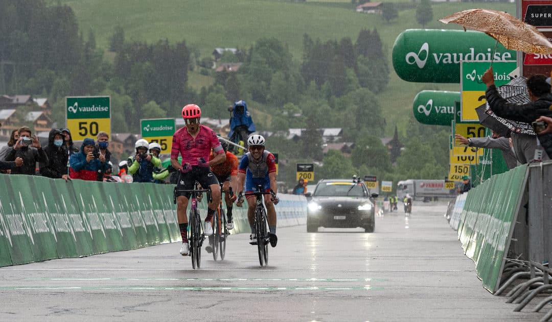 Victoire en sprint de Stefan Bissegger à Gstaad